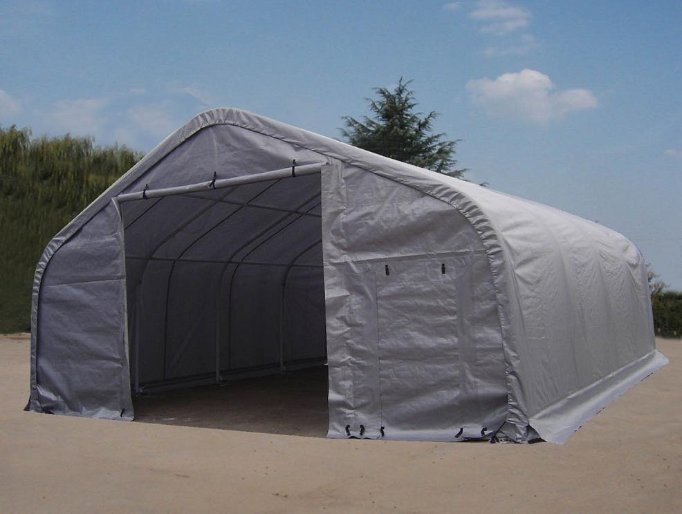 Shelters portable garages tent sheds outdoor storage large for Large outdoor sheds