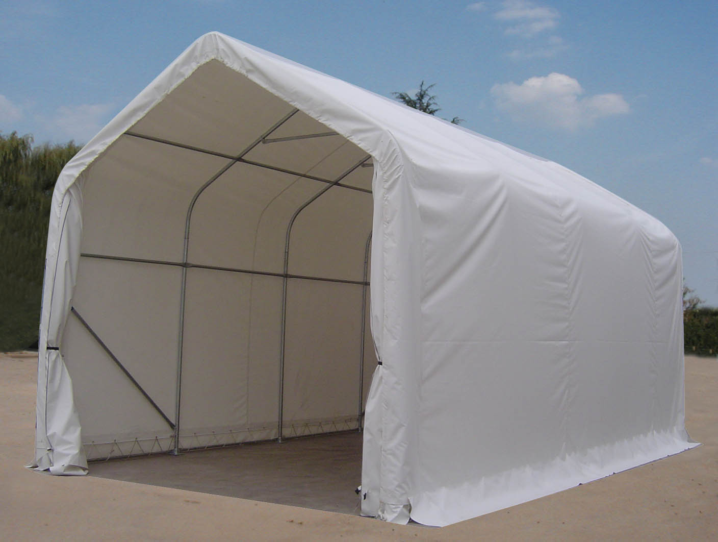 Bass Boat Shelters : Portable garage shelter storage buildings canopies autos
